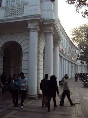 Architecture of the inner circle buildings- Connaught Place or CP
