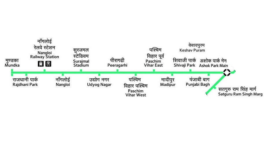 Delhi Metro Green Line Hd Route Map Fare Stations Timings